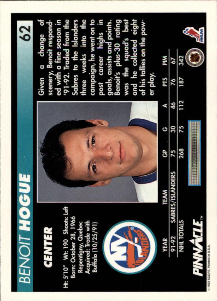 1992-93-Pinnacle-American-HK-039-s-1-210-You-Pick-Buy-10-cards-FREE-SHIP miniature 125