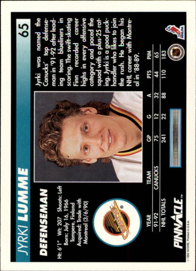 1992-93-Pinnacle-American-HK-039-s-1-210-You-Pick-Buy-10-cards-FREE-SHIP miniature 131