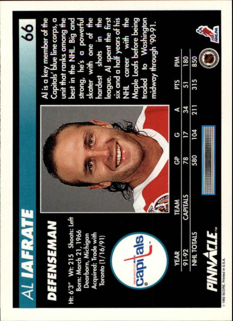 1992-93-Pinnacle-American-HK-039-s-1-210-You-Pick-Buy-10-cards-FREE-SHIP miniature 133