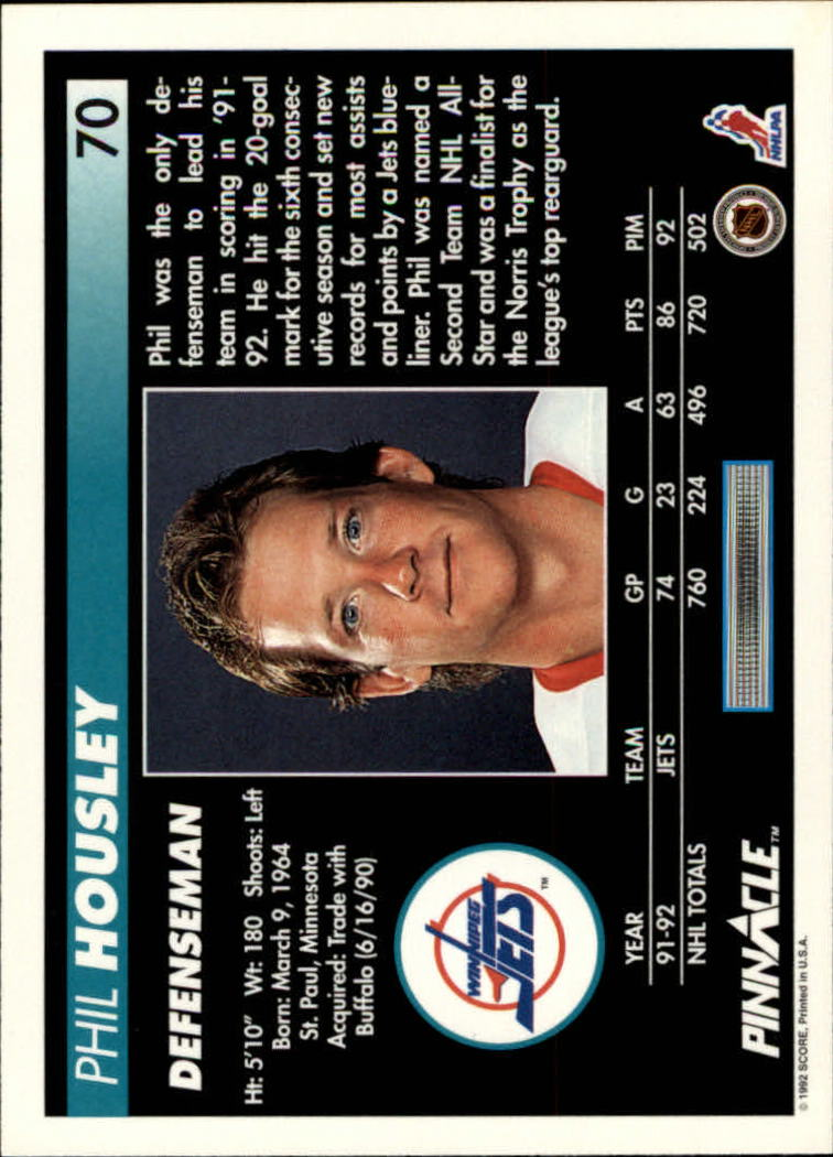1992-93-Pinnacle-American-HK-039-s-1-210-You-Pick-Buy-10-cards-FREE-SHIP miniature 141