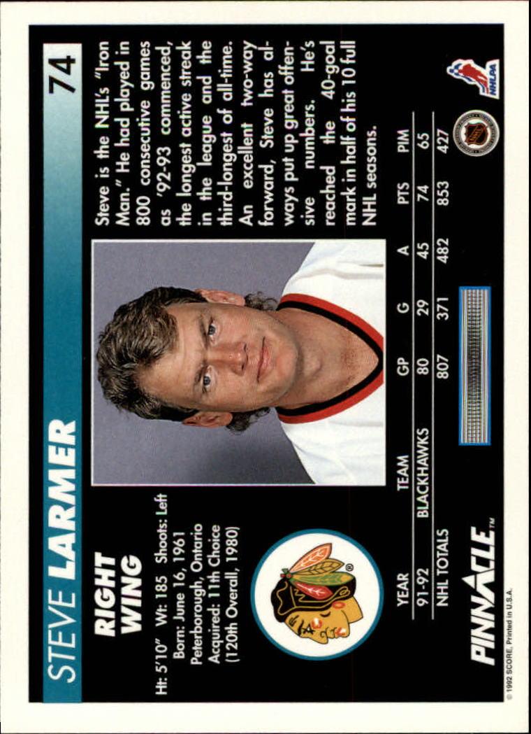 1992-93-Pinnacle-American-HK-039-s-1-210-You-Pick-Buy-10-cards-FREE-SHIP miniature 149