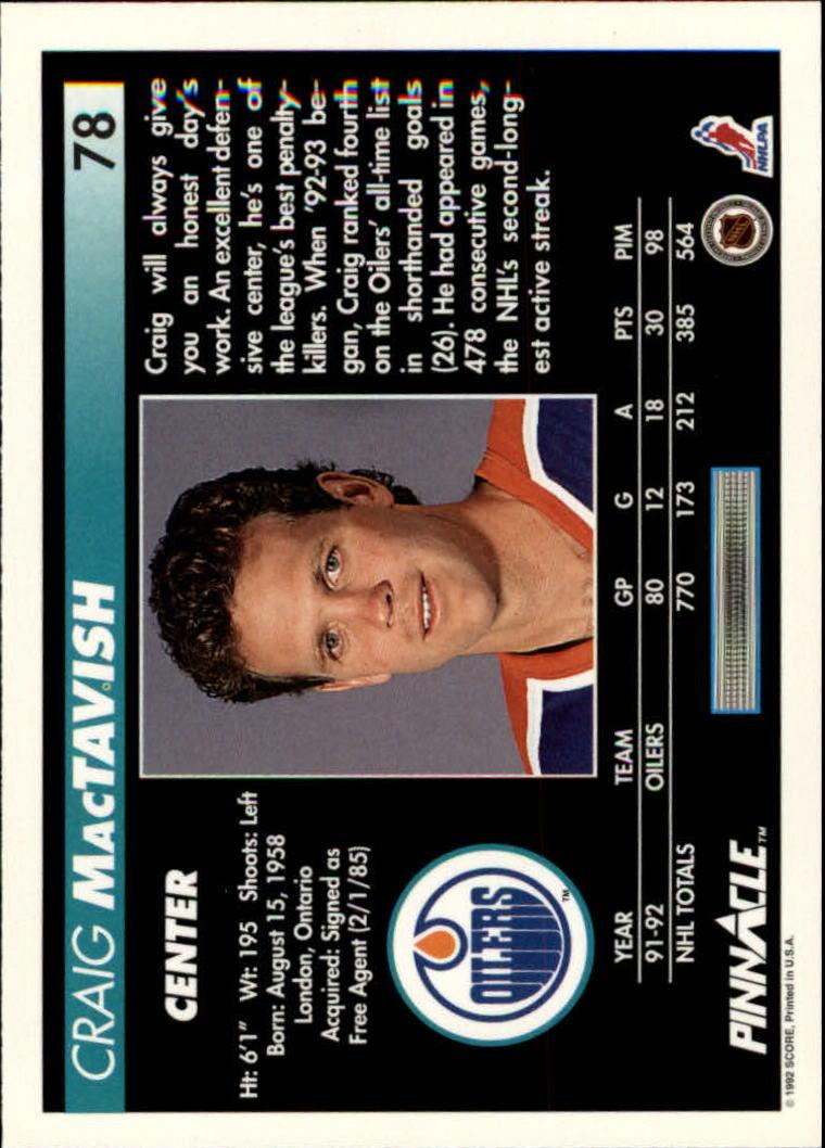 1992-93-Pinnacle-American-HK-039-s-1-210-You-Pick-Buy-10-cards-FREE-SHIP miniature 157