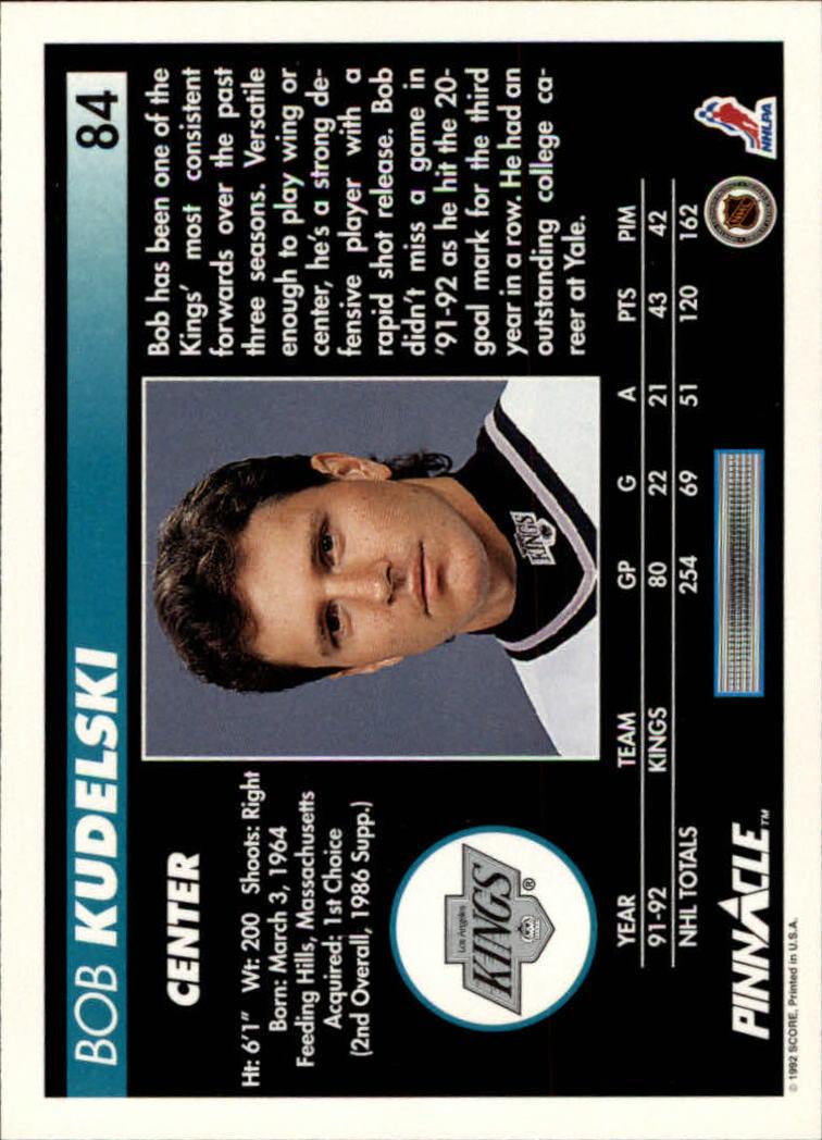 1992-93-Pinnacle-American-HK-039-s-1-210-You-Pick-Buy-10-cards-FREE-SHIP miniature 169