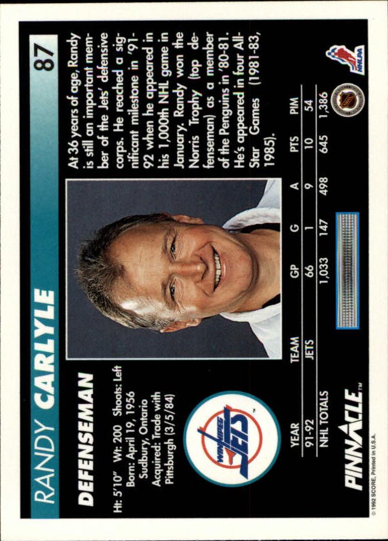 1992-93-Pinnacle-American-HK-039-s-1-210-You-Pick-Buy-10-cards-FREE-SHIP miniature 175