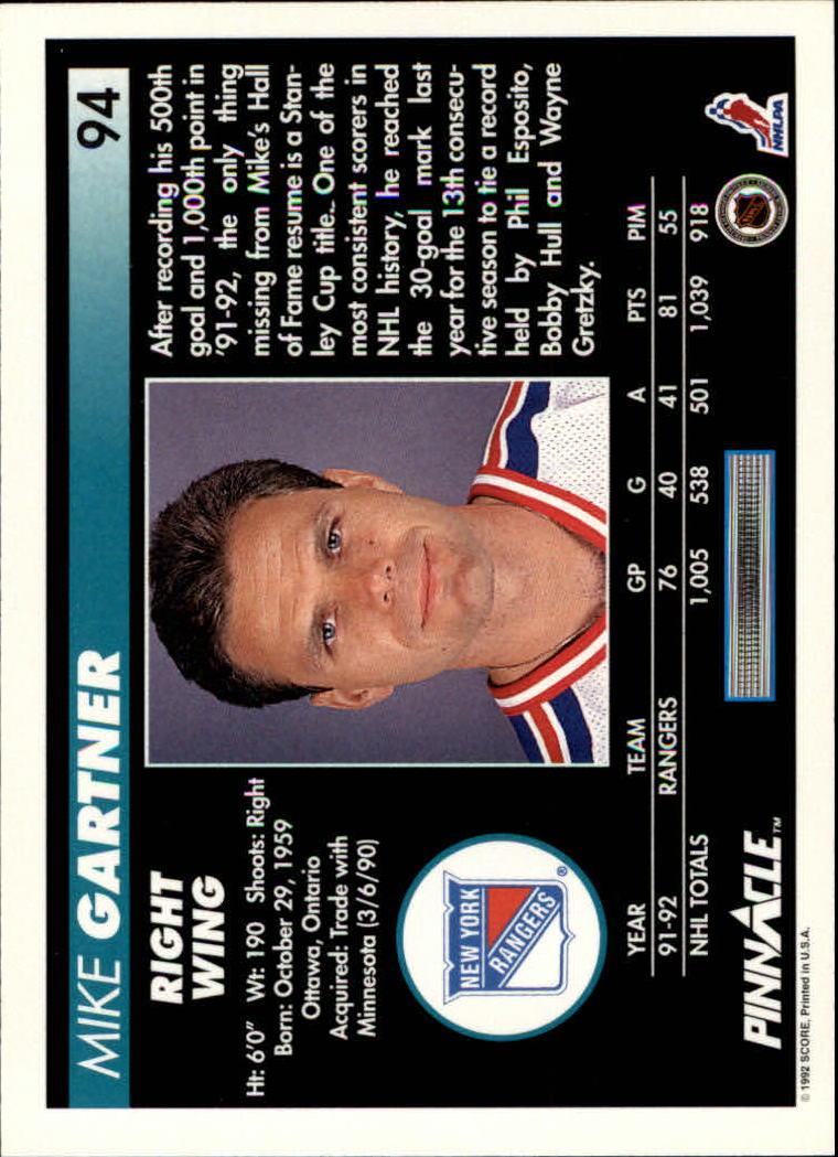 1992-93-Pinnacle-American-HK-039-s-1-210-You-Pick-Buy-10-cards-FREE-SHIP miniature 187