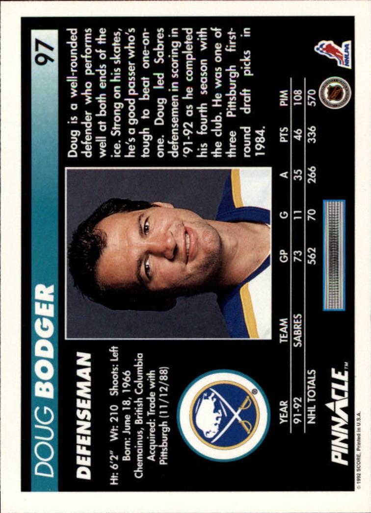 1992-93-Pinnacle-American-HK-039-s-1-210-You-Pick-Buy-10-cards-FREE-SHIP miniature 193