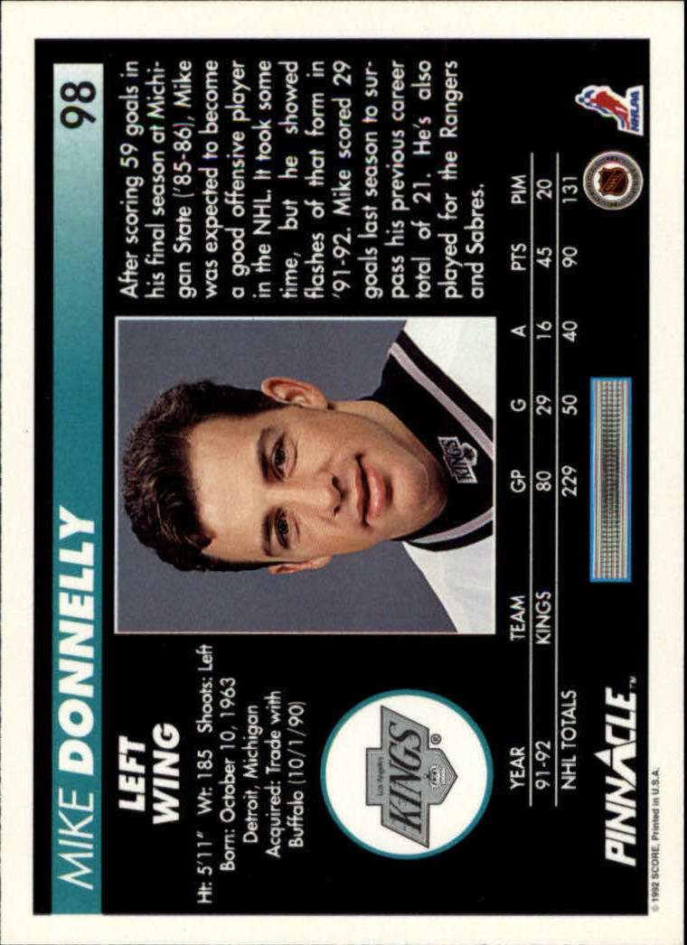 1992-93-Pinnacle-American-HK-039-s-1-210-You-Pick-Buy-10-cards-FREE-SHIP miniature 195