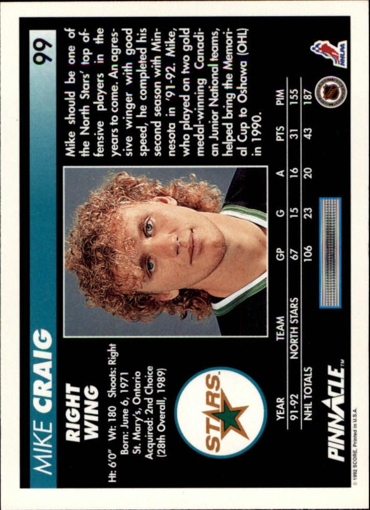 1992-93-Pinnacle-American-HK-039-s-1-210-You-Pick-Buy-10-cards-FREE-SHIP miniature 197