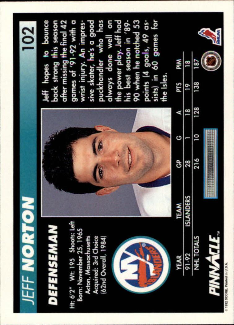1992-93-Pinnacle-American-HK-039-s-1-210-You-Pick-Buy-10-cards-FREE-SHIP miniature 203