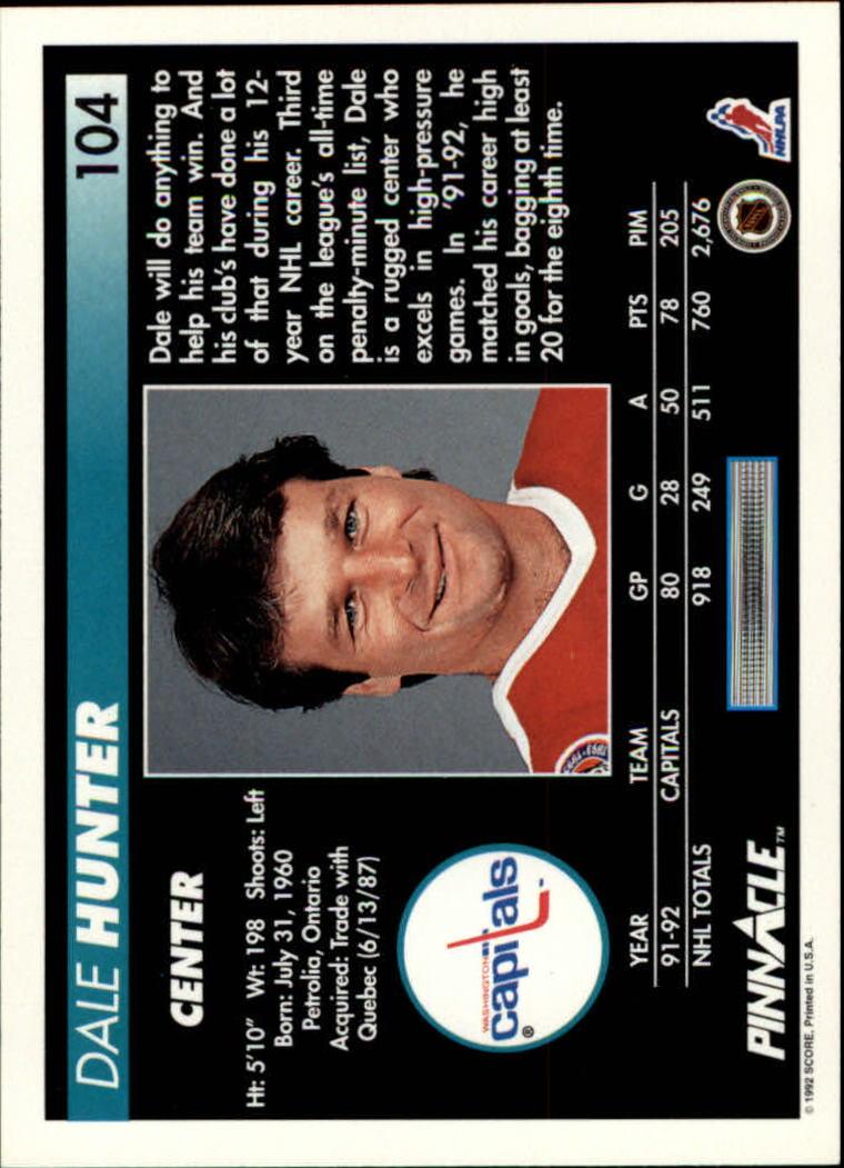 1992-93-Pinnacle-American-HK-039-s-1-210-You-Pick-Buy-10-cards-FREE-SHIP miniature 207