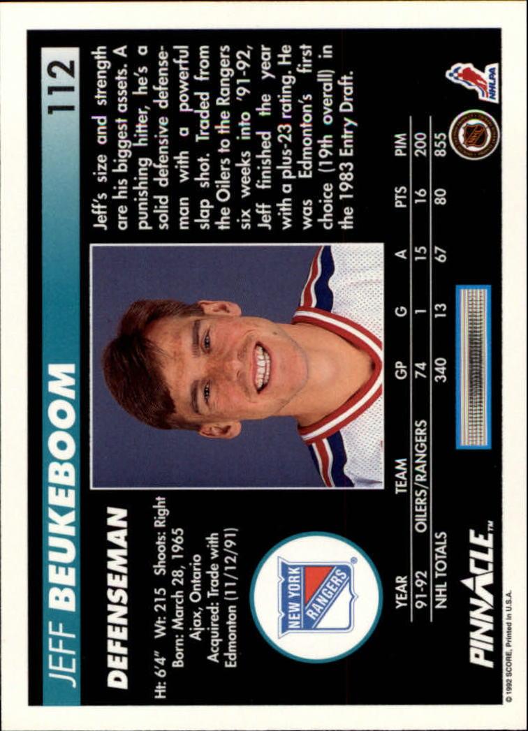 1992-93-Pinnacle-American-HK-039-s-1-210-You-Pick-Buy-10-cards-FREE-SHIP miniature 219