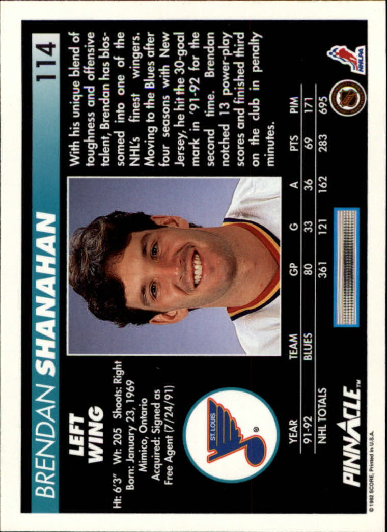 1992-93-Pinnacle-American-HK-039-s-1-210-You-Pick-Buy-10-cards-FREE-SHIP miniature 223