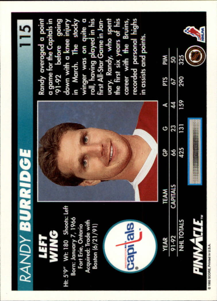 1992-93-Pinnacle-American-HK-039-s-1-210-You-Pick-Buy-10-cards-FREE-SHIP miniature 225