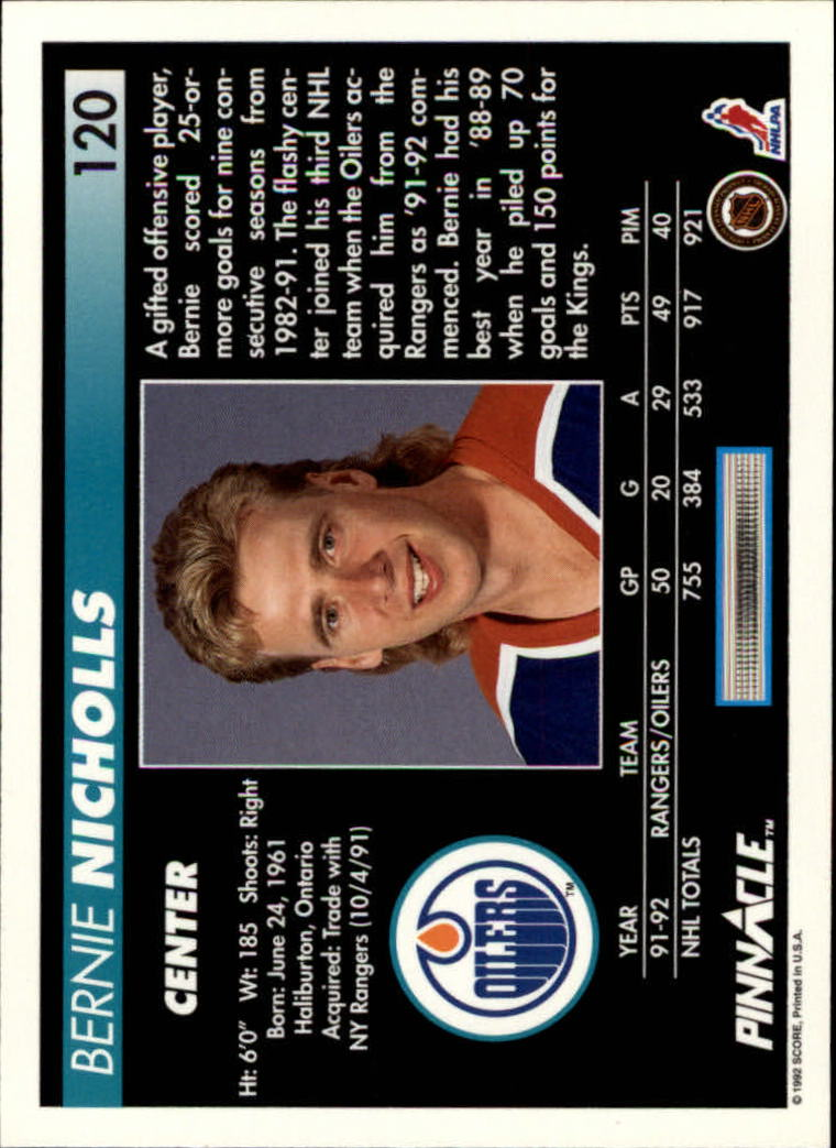1992-93-Pinnacle-American-HK-039-s-1-210-You-Pick-Buy-10-cards-FREE-SHIP miniature 235