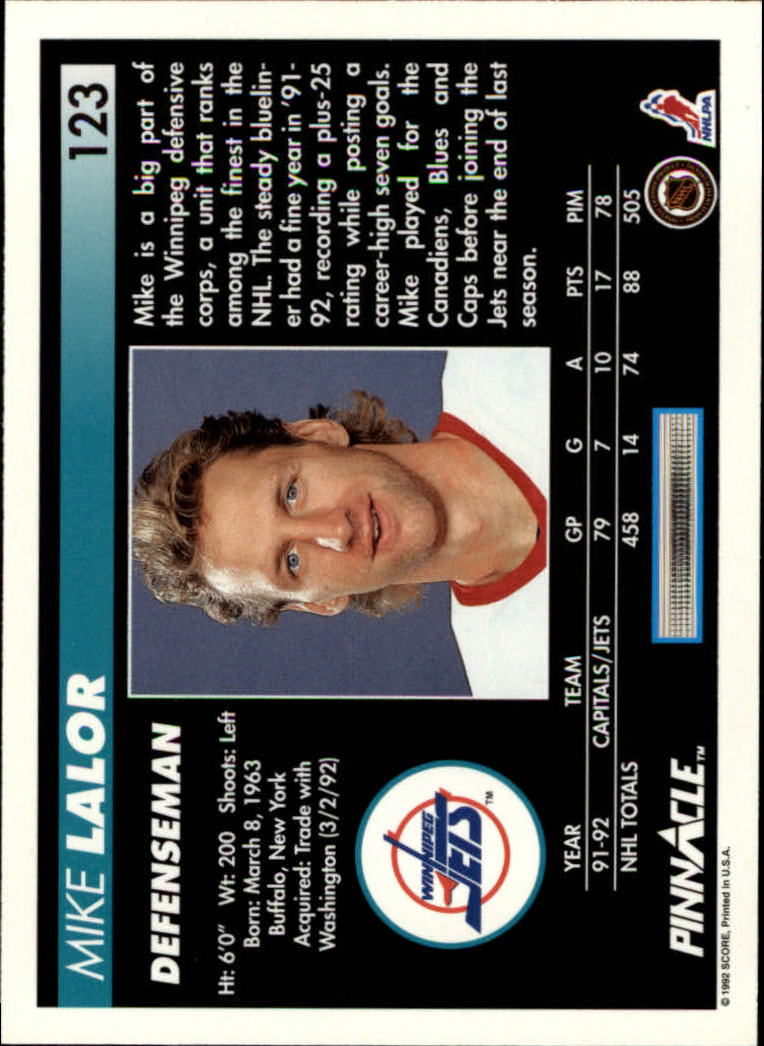 1992-93-Pinnacle-American-HK-039-s-1-210-You-Pick-Buy-10-cards-FREE-SHIP miniature 241