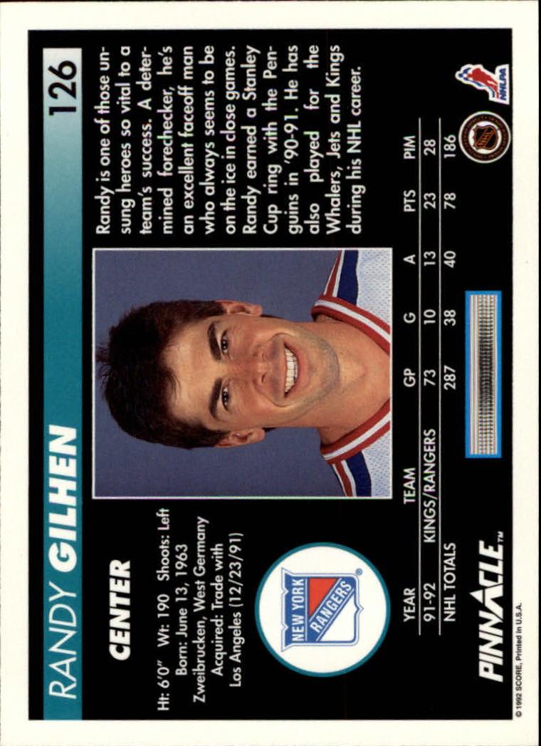 1992-93-Pinnacle-American-HK-039-s-1-210-You-Pick-Buy-10-cards-FREE-SHIP miniature 247