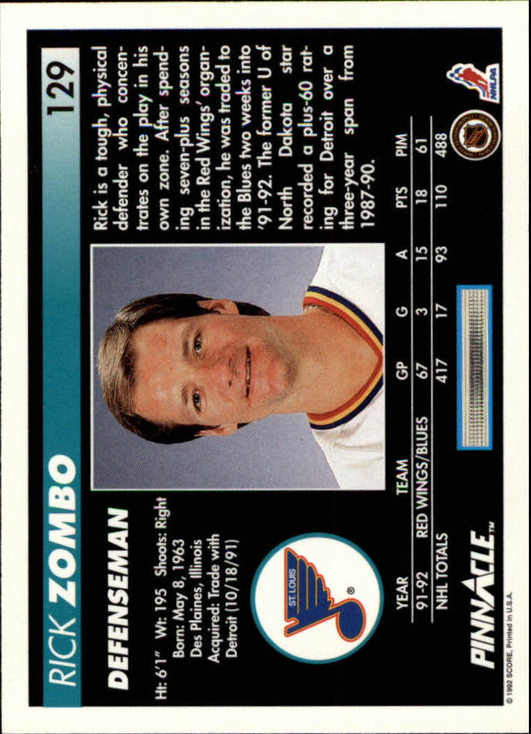 1992-93-Pinnacle-American-HK-039-s-1-210-You-Pick-Buy-10-cards-FREE-SHIP miniature 253