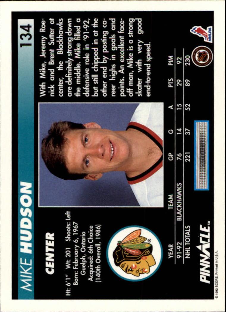 1992-93-Pinnacle-American-HK-039-s-1-210-You-Pick-Buy-10-cards-FREE-SHIP miniature 261