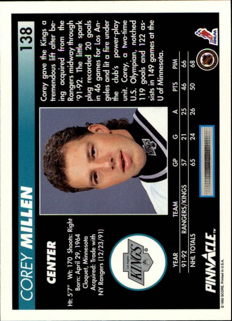 1992-93-Pinnacle-American-HK-039-s-1-210-You-Pick-Buy-10-cards-FREE-SHIP miniature 269