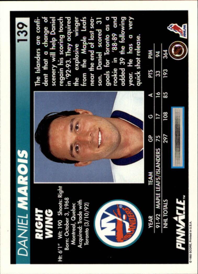 1992-93-Pinnacle-American-HK-039-s-1-210-You-Pick-Buy-10-cards-FREE-SHIP miniature 271