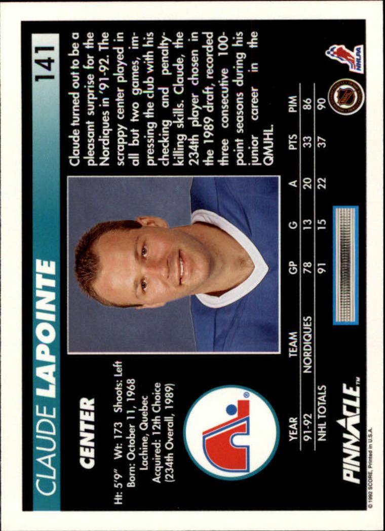 1992-93-Pinnacle-American-HK-039-s-1-210-You-Pick-Buy-10-cards-FREE-SHIP miniature 275