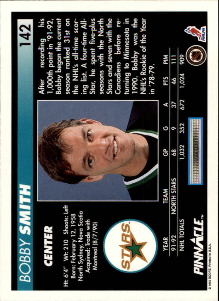 1992-93-Pinnacle-American-HK-039-s-1-210-You-Pick-Buy-10-cards-FREE-SHIP miniature 277