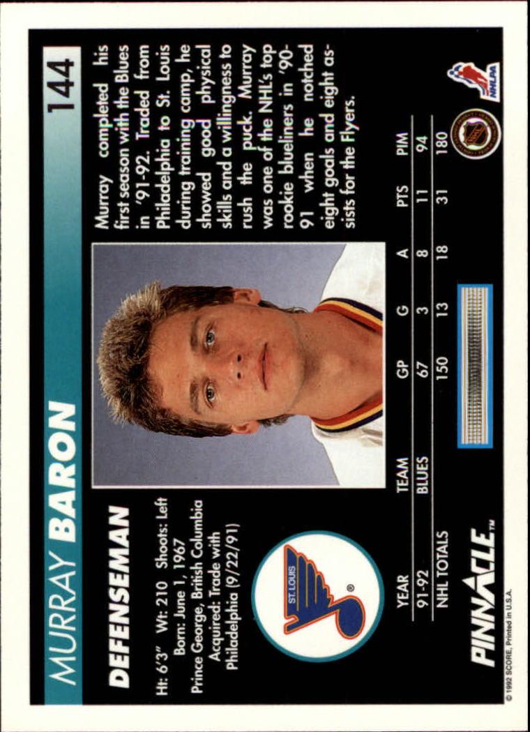 1992-93-Pinnacle-American-HK-039-s-1-210-You-Pick-Buy-10-cards-FREE-SHIP miniature 281