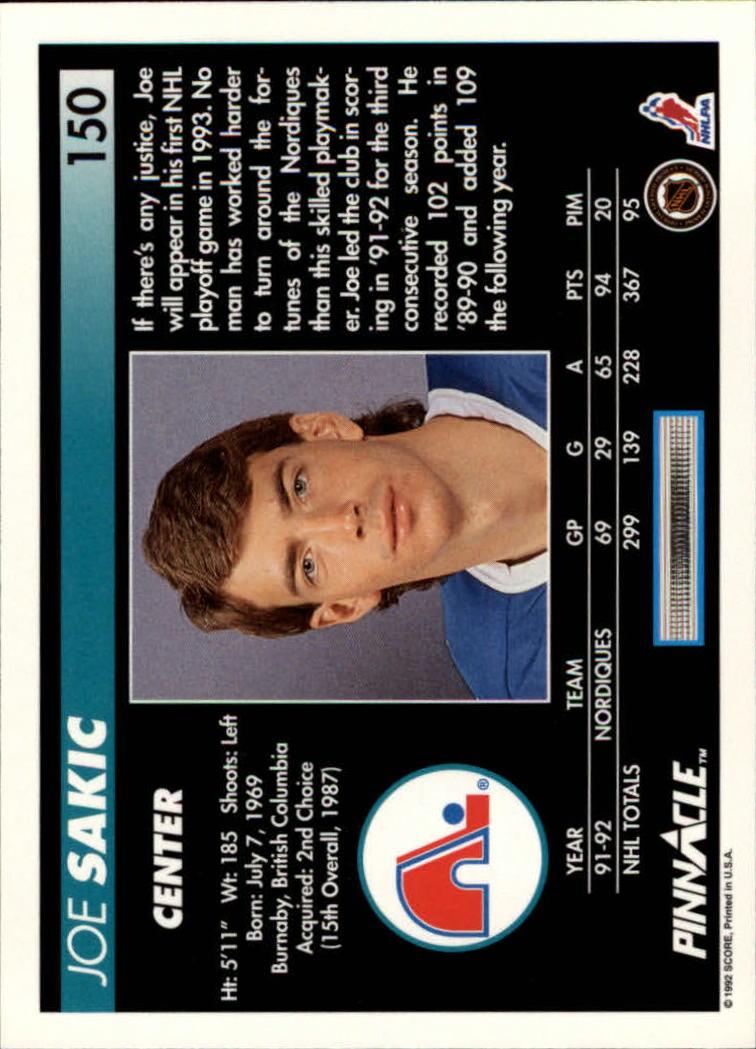 1992-93-Pinnacle-American-HK-039-s-1-210-You-Pick-Buy-10-cards-FREE-SHIP miniature 293