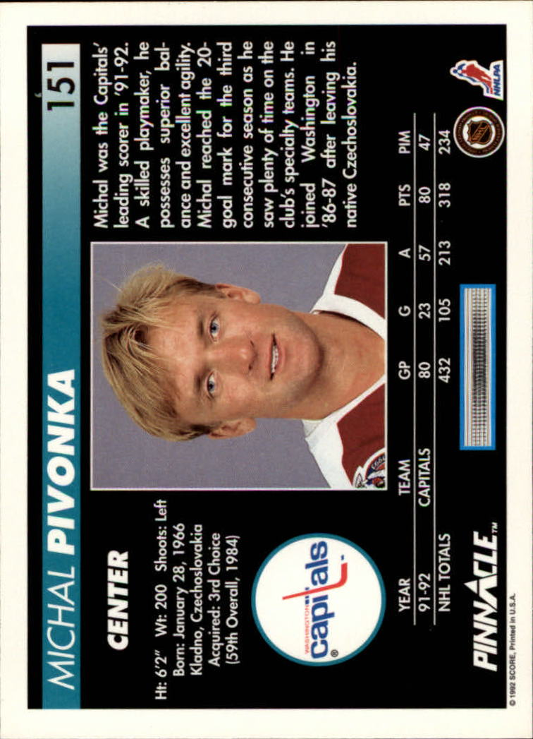 1992-93-Pinnacle-American-HK-039-s-1-210-You-Pick-Buy-10-cards-FREE-SHIP miniature 295