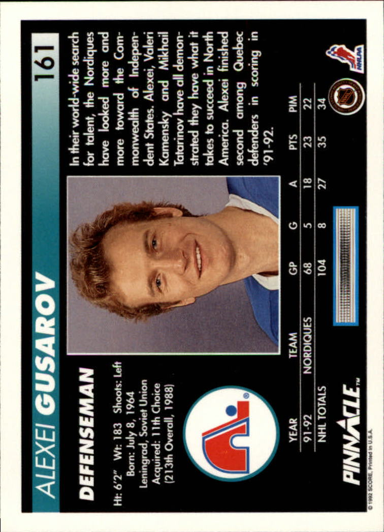 1992-93-Pinnacle-American-HK-039-s-1-210-You-Pick-Buy-10-cards-FREE-SHIP miniature 313