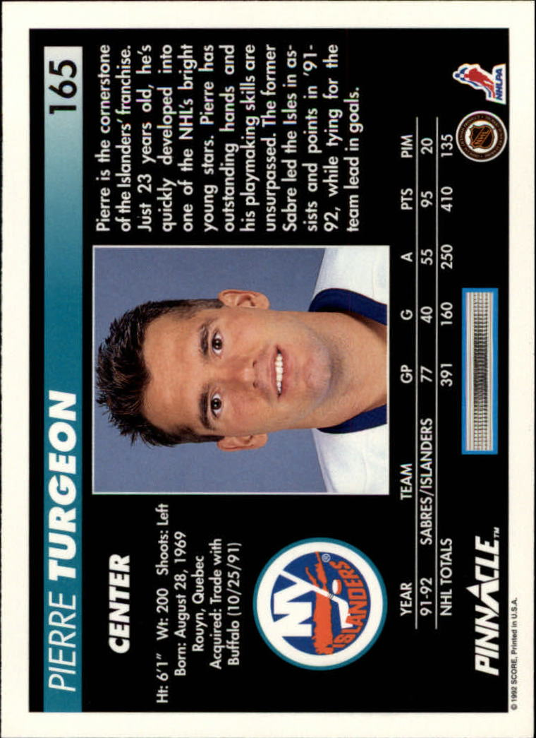 1992-93-Pinnacle-American-HK-039-s-1-210-You-Pick-Buy-10-cards-FREE-SHIP miniature 321