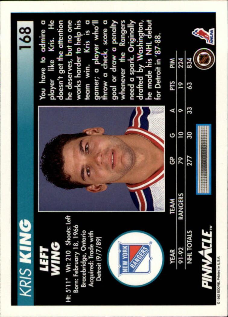 1992-93-Pinnacle-American-HK-039-s-1-210-You-Pick-Buy-10-cards-FREE-SHIP miniature 327