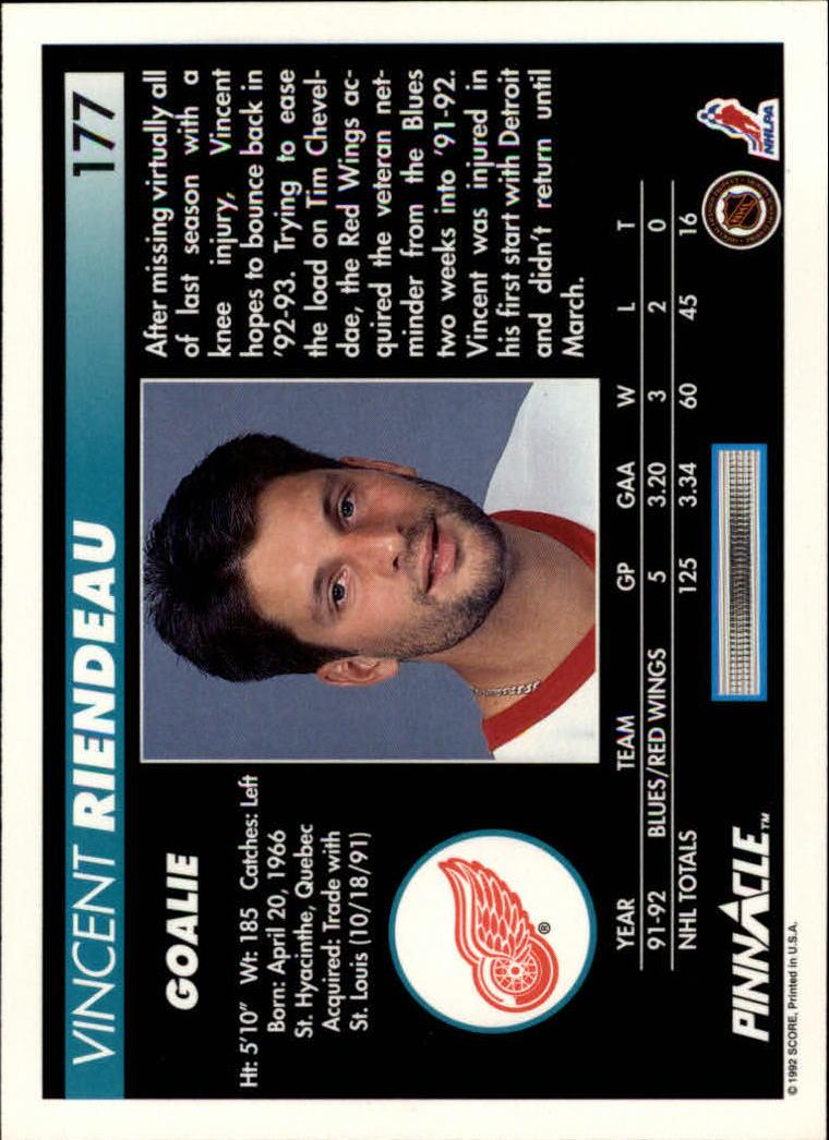 1992-93-Pinnacle-American-HK-039-s-1-210-You-Pick-Buy-10-cards-FREE-SHIP miniature 345