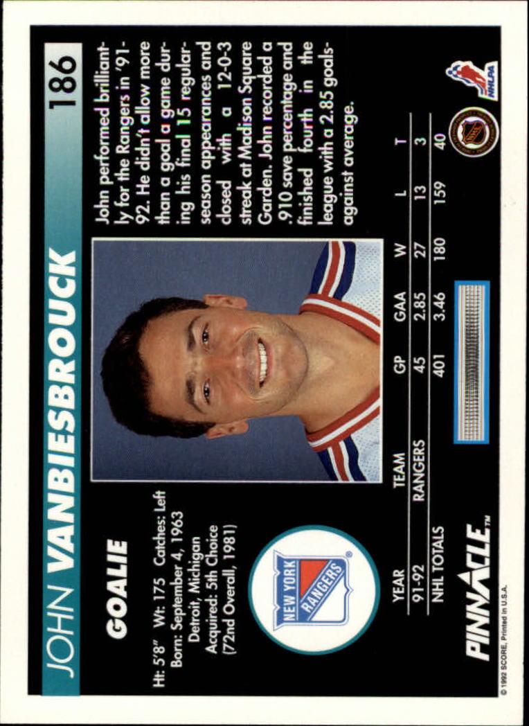1992-93-Pinnacle-American-HK-039-s-1-210-You-Pick-Buy-10-cards-FREE-SHIP miniature 363