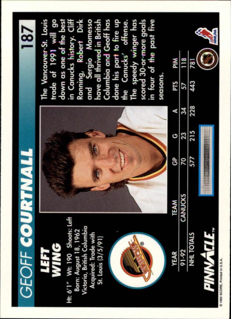 1992-93-Pinnacle-American-HK-039-s-1-210-You-Pick-Buy-10-cards-FREE-SHIP miniature 365
