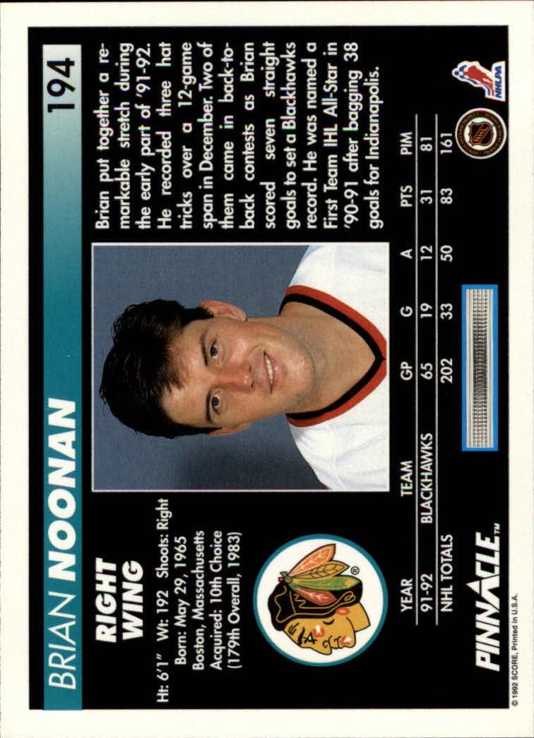 1992-93-Pinnacle-American-HK-039-s-1-210-You-Pick-Buy-10-cards-FREE-SHIP miniature 379