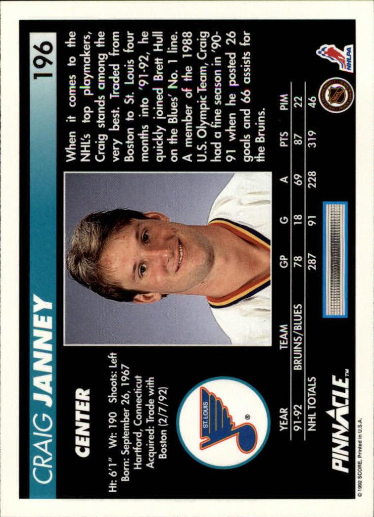 1992-93-Pinnacle-American-HK-039-s-1-210-You-Pick-Buy-10-cards-FREE-SHIP miniature 383