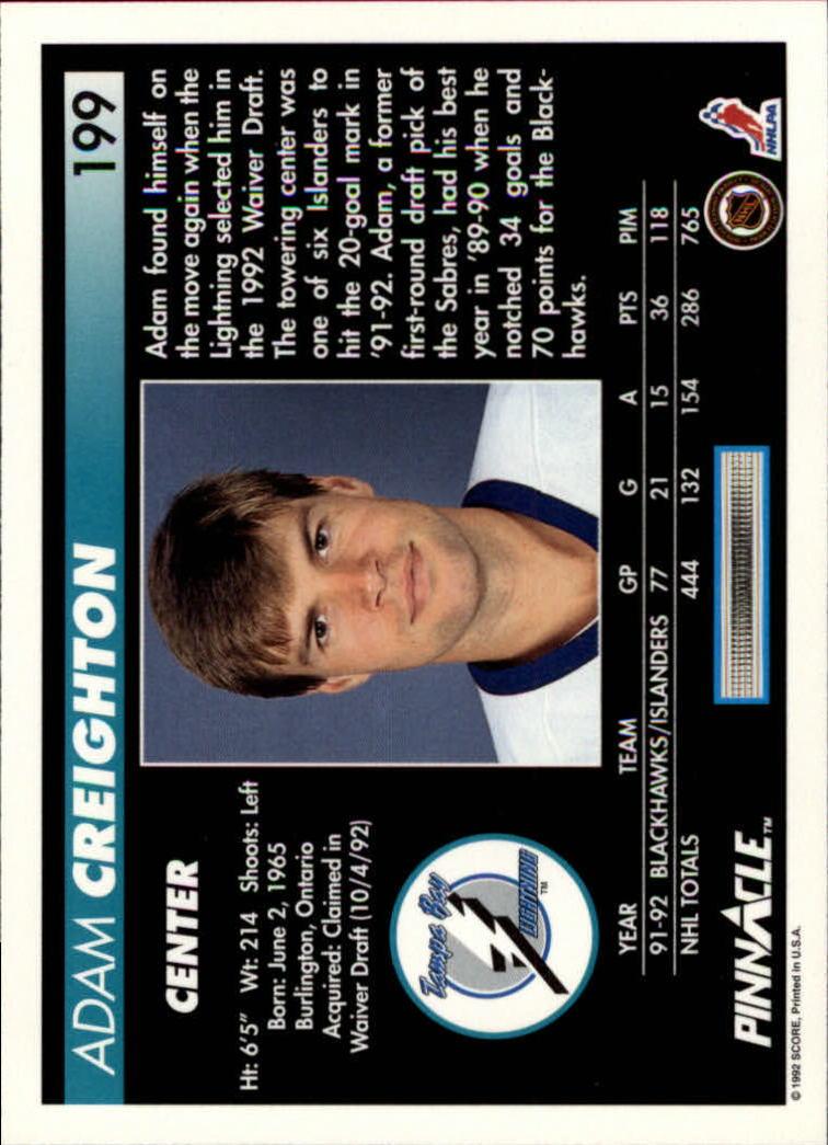 1992-93-Pinnacle-American-HK-039-s-1-210-You-Pick-Buy-10-cards-FREE-SHIP miniature 389