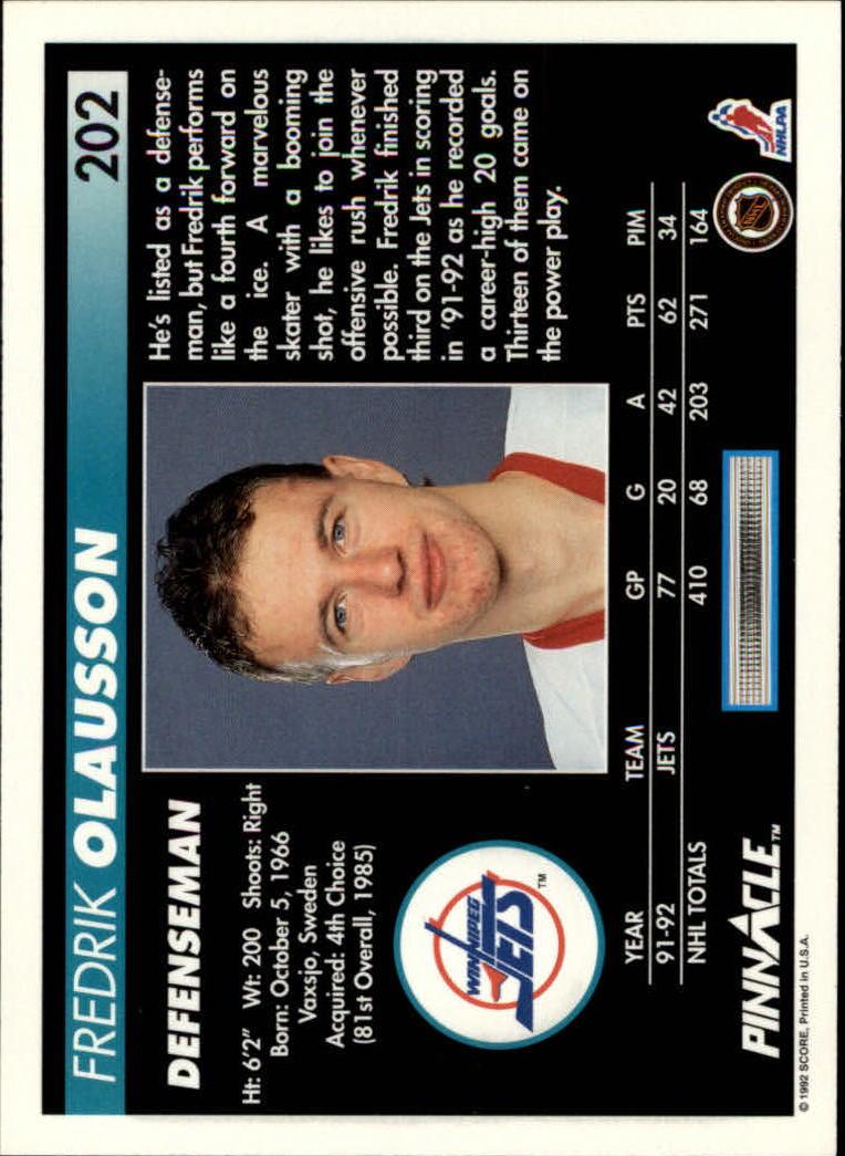 1992-93-Pinnacle-American-HK-039-s-1-210-You-Pick-Buy-10-cards-FREE-SHIP miniature 393