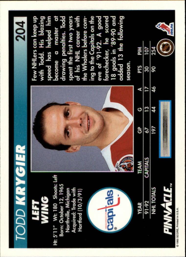 1992-93-Pinnacle-American-HK-039-s-1-210-You-Pick-Buy-10-cards-FREE-SHIP miniature 397