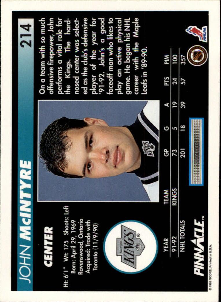 1992-93-Pinnacle-American-HK-039-s-1-210-You-Pick-Buy-10-cards-FREE-SHIP miniature 417