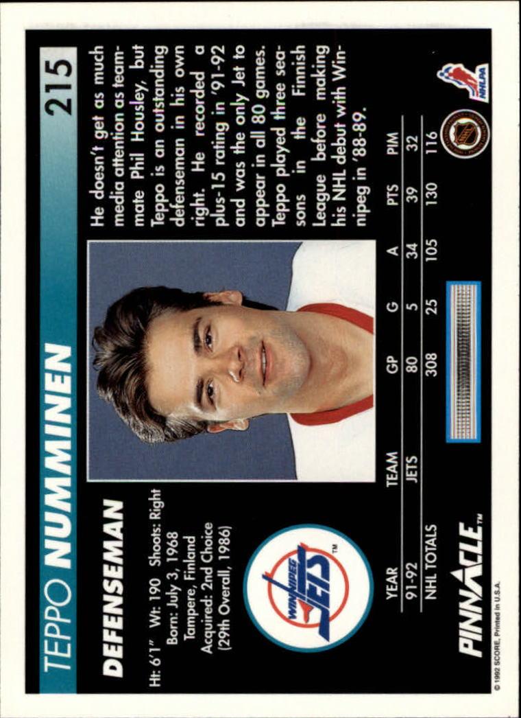 1992-93-Pinnacle-American-HK-039-s-1-210-You-Pick-Buy-10-cards-FREE-SHIP miniature 419