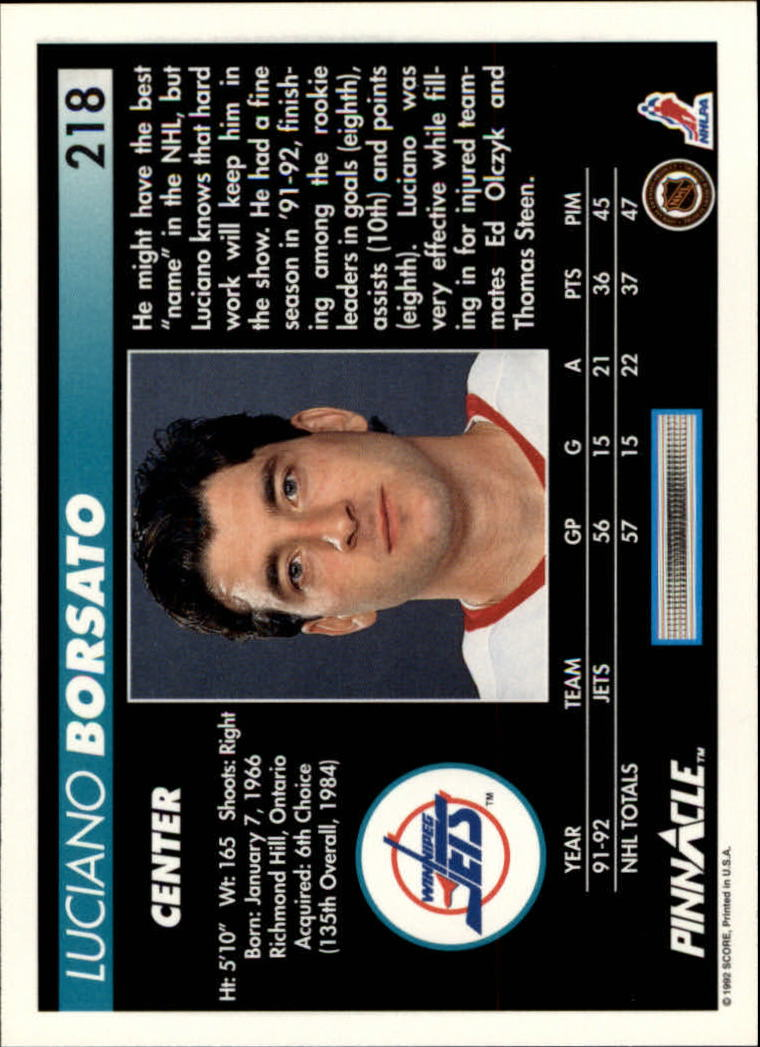 1992-93-Pinnacle-American-HK-039-s-1-210-You-Pick-Buy-10-cards-FREE-SHIP miniature 425
