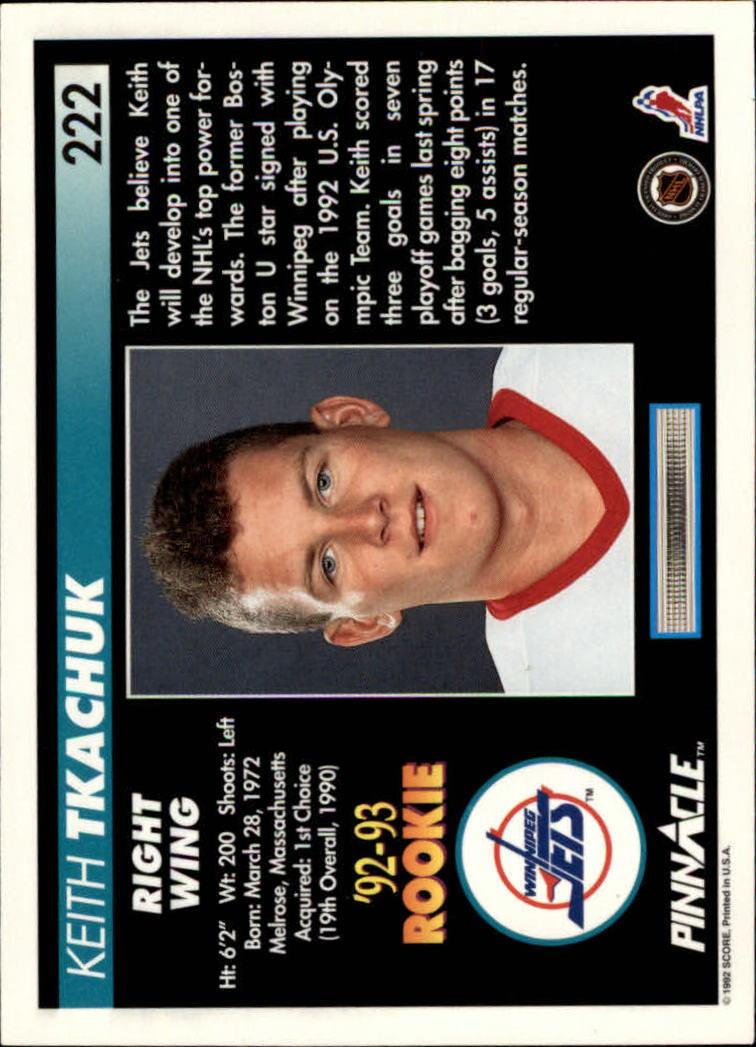 1992-93-Pinnacle-American-HK-039-s-1-210-You-Pick-Buy-10-cards-FREE-SHIP miniature 433