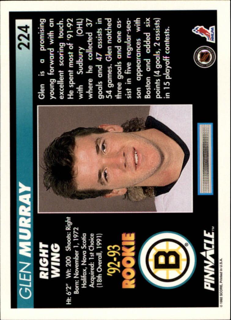 1992-93-Pinnacle-American-HK-039-s-1-210-You-Pick-Buy-10-cards-FREE-SHIP miniature 437