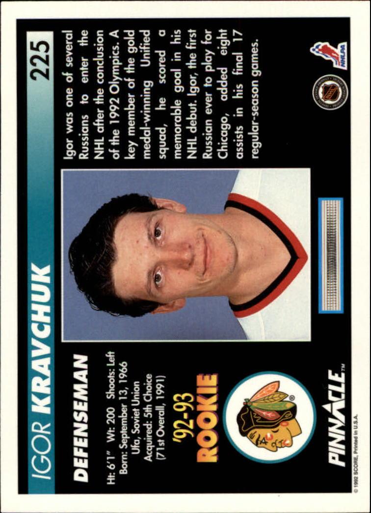 1992-93-Pinnacle-American-HK-039-s-1-210-You-Pick-Buy-10-cards-FREE-SHIP miniature 439