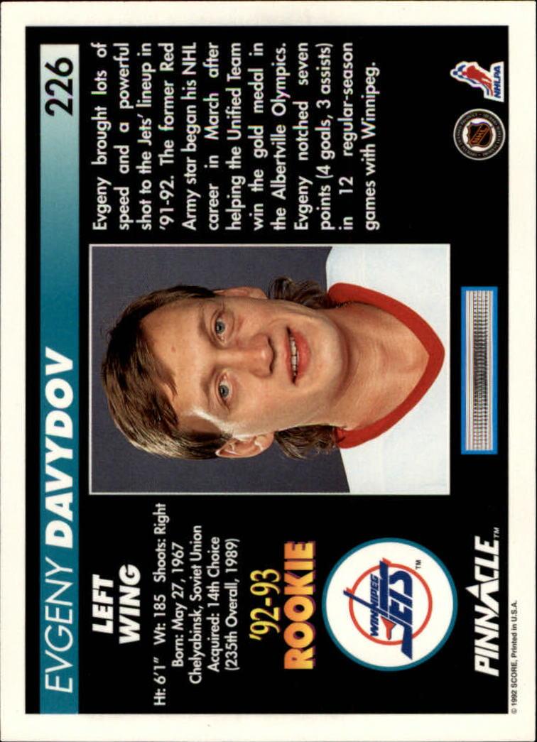1992-93-Pinnacle-American-HK-039-s-1-210-You-Pick-Buy-10-cards-FREE-SHIP miniature 441