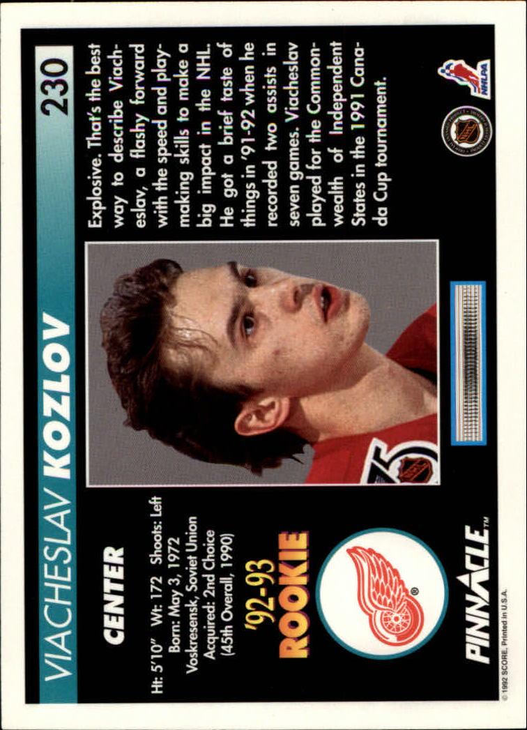 1992-93-Pinnacle-American-HK-039-s-1-210-You-Pick-Buy-10-cards-FREE-SHIP miniature 449