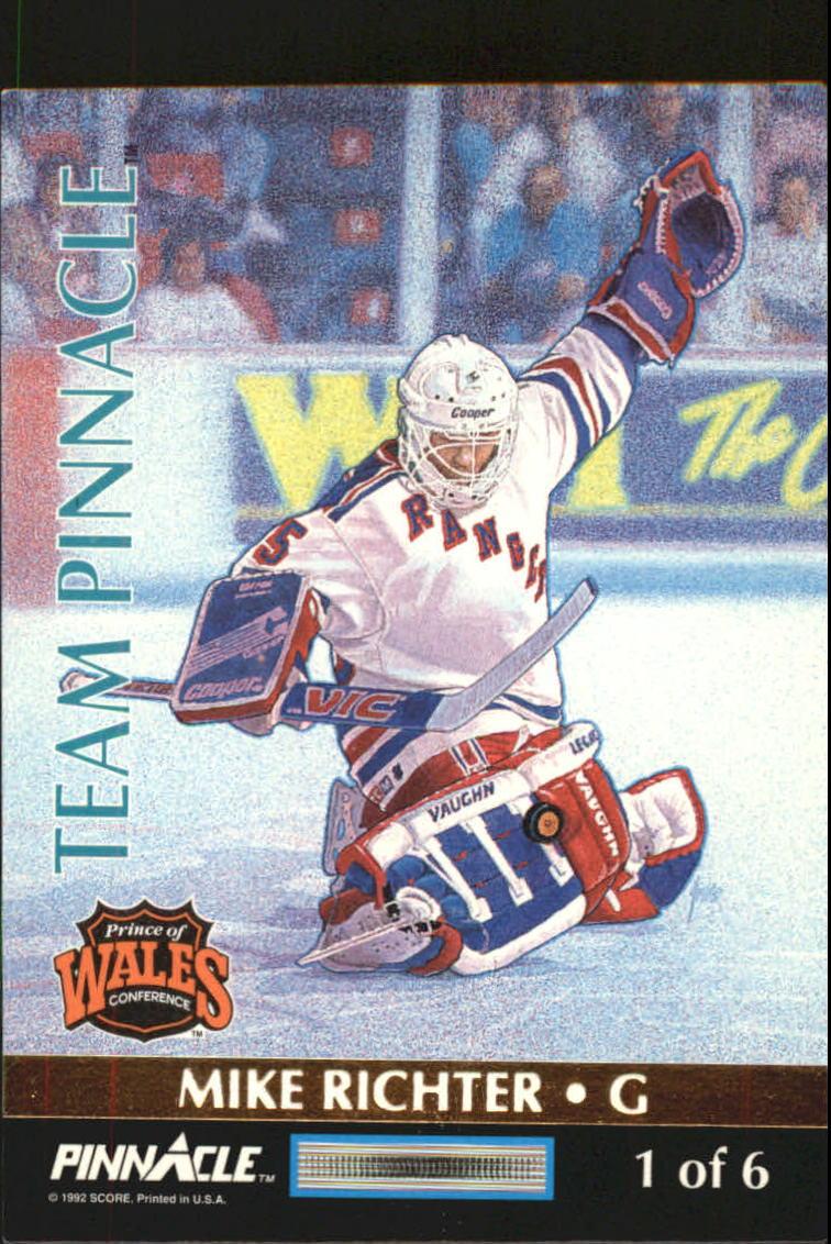 1992-93 Pinnacle Team Pinnacle #1 Mike Richter/Ed Belfour back image