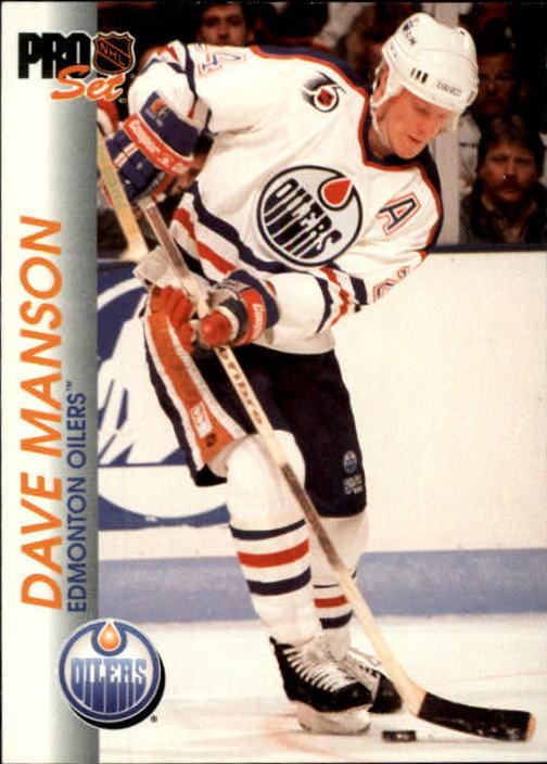 1992-93 Pro Set #55 Dave Manson